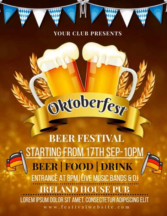 Oktoberfest,fest,beer festival,event Flyer (format US Letter) template