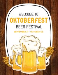 Oktoberfest,fest,beer festival,event Flyer (US Letter) template