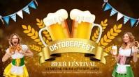 Oktoberfest,fest,beer festival,event Affichage numérique (16:9) template