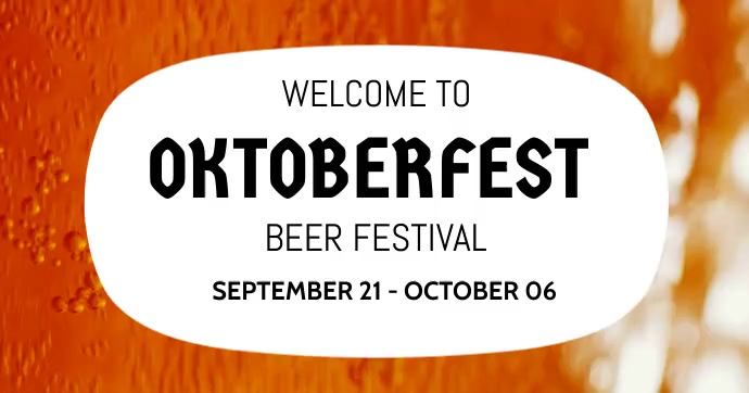 Oktoberfest,fest,beer festival,event Isithombe Esabiwe ku-Facebook template