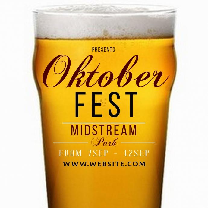 Oktoberfest ad social media TEMPLATE Ilogo