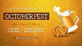 Oktoberfest Bar Beer Festival Facebook Cover Video Template
