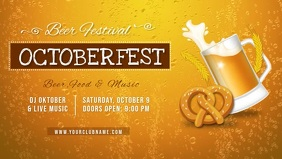 Oktoberfest Bar Beer Festival Facebook Cover Video Template