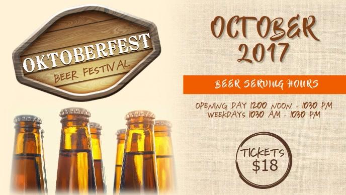 Oktoberfest Bar Deals Facebook Cover Video Template