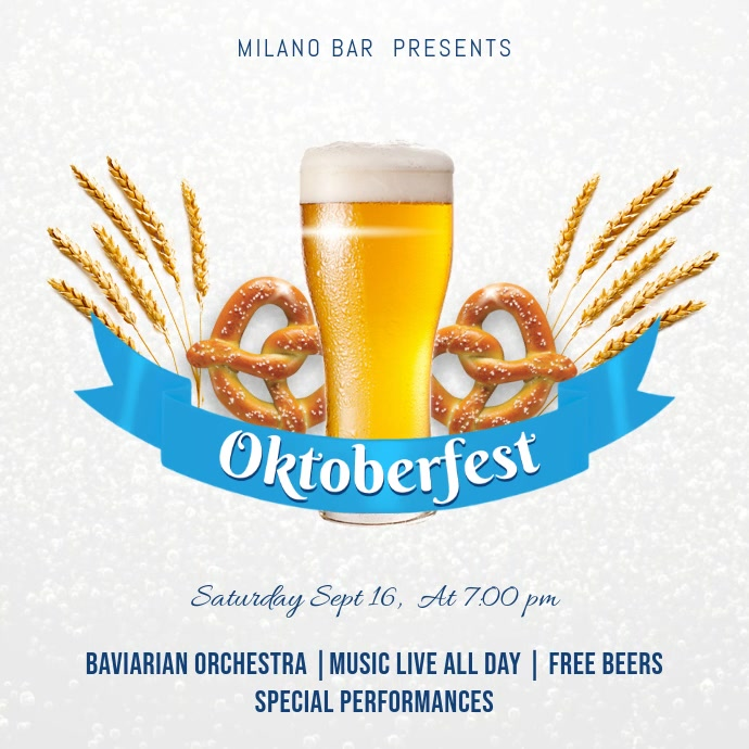 Oktoberfest Bar Deals Instagram Post