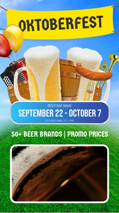 Oktoberfest Bar Deals Video Template