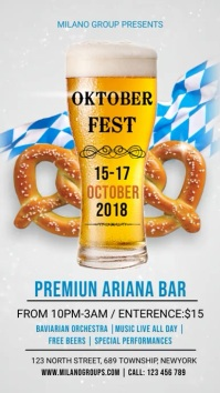 Oktoberfest Bar Event Video Template Digital Display (9:16)