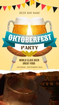 Oktoberfest Bar Party Video Template Digital Display (9:16)