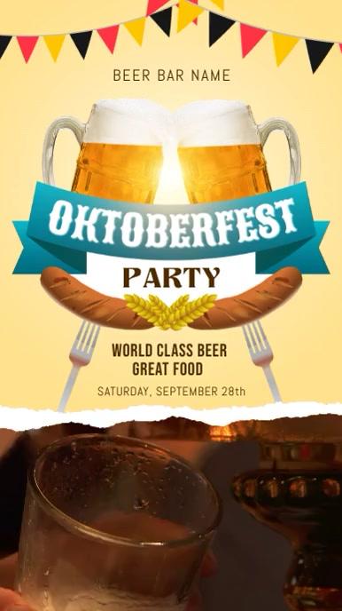 Oktoberfest Bar Party Video Template Umbukiso Wedijithali (9:16)