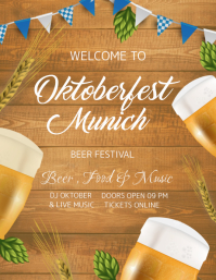 Oktoberfest Beer and Music Concert Poster Template