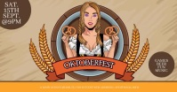 Oktoberfest Beer Animation Video Flyer Facebook Shared Image template