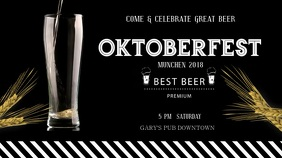 Oktoberfest Beer Digital Display Video template