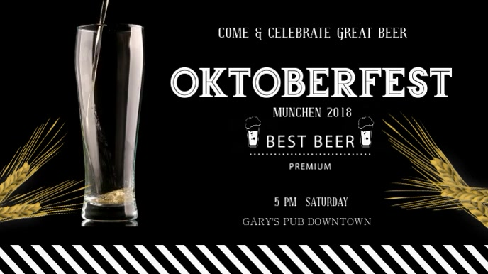 Oktoberfest Beer Digital Display Video Ekran reklamowy (16:9) template