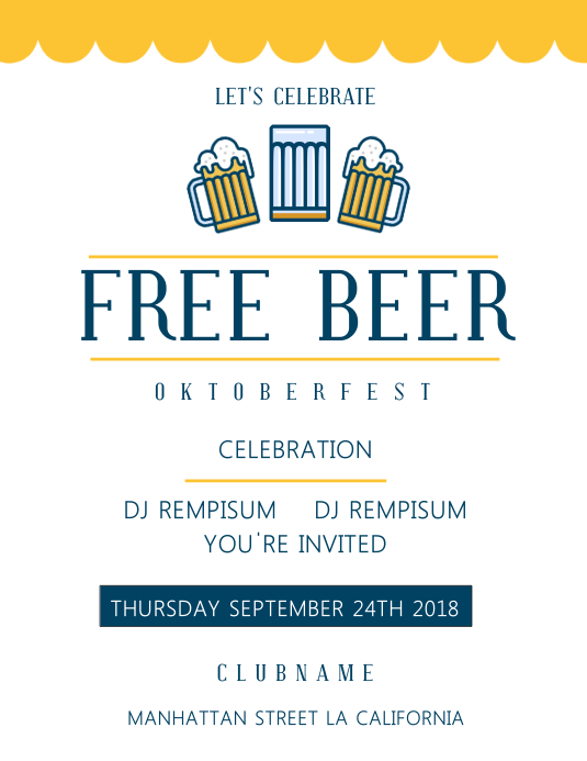 oktoberfest beer event simple flyer template