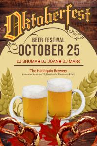 Oktoberfest Beer Festival Concert Poster Template