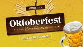 Oktoberfest Beer Festival Facebook Cover Video Facebook-covervideo (16:9) template