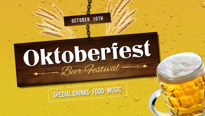 Oktoberfest Beer Festival Facebook Cover Video