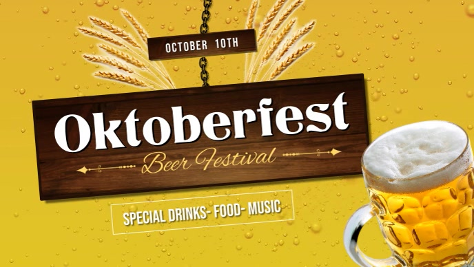 Oktoberfest Beer Festival Facebook Cover Video