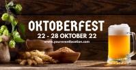 Oktoberfest Beer Garden Event Advert Header Facebook 活动封面 template
