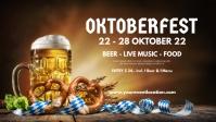 Oktoberfest Beer Garden Event Advert Header วิดีโอหน้าปก Facebook (16:9) template