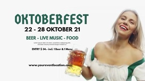 Oktoberfest Beer Garden Event Advert Header Digitale Vertoning (16:9) template