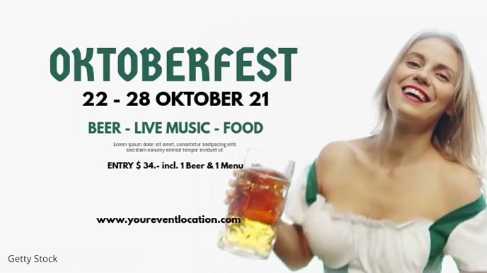 Oktoberfest Beer Garden Event Advert Header Umbukiso Wedijithali (16:9) template