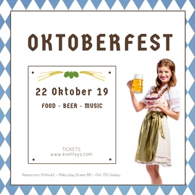 Oktoberfest Beer Garden Event Advert Party Square (1:1) template