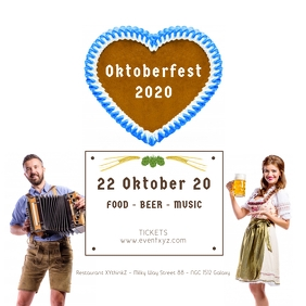 Oktoberfest Beer Garden Event Party Advert