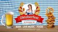 Oktoberfest Beer Garden Event Poster Advert template