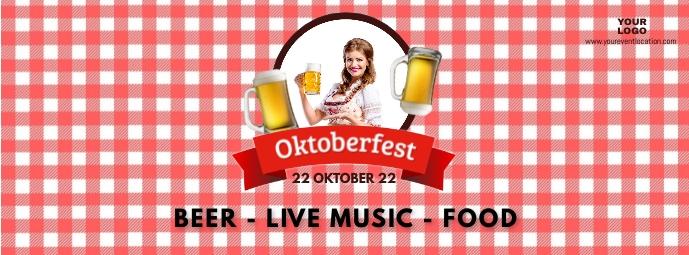 Oktoberfest Beer Garden Event Poster Advert Facebook Cover Photo template