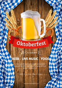 Oktoberfest Beer Garden Event Poster Advert A4 template