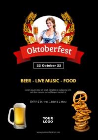 Oktoberfest Beer Garden Event Poster Advert A4 template