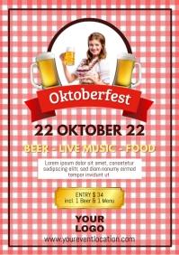 Oktoberfest Beer Garden Event Poster Advert