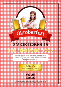 Oktoberfest Beer Garden Event Poster Advert