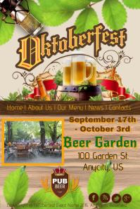 Oktoberfest Beer Garden Template Poster