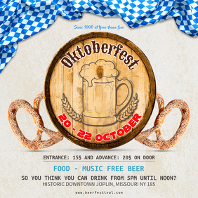 Oktoberfest Beer Party Instagram Ad Template