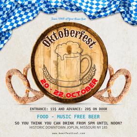 Oktoberfest Beer Party Instagram Ad Template