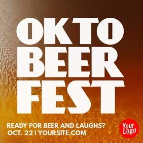 oktoberfest beer video instagram advertising template