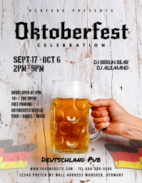 Oktoberfest Celebration Beer Flyer Template