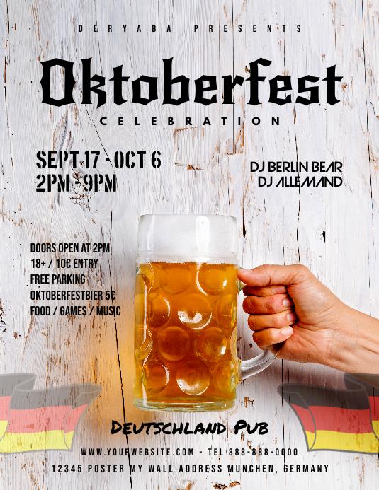 Oktoberfest Celebration Beer Flyer Template