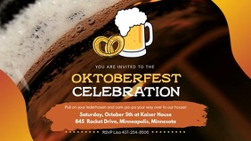 Oktoberfest Celebration Facebook Video Banner template