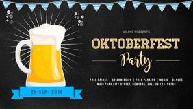 Oktoberfest Celebration Party Facebook Cover Video Facebook-covervideo (16:9) template