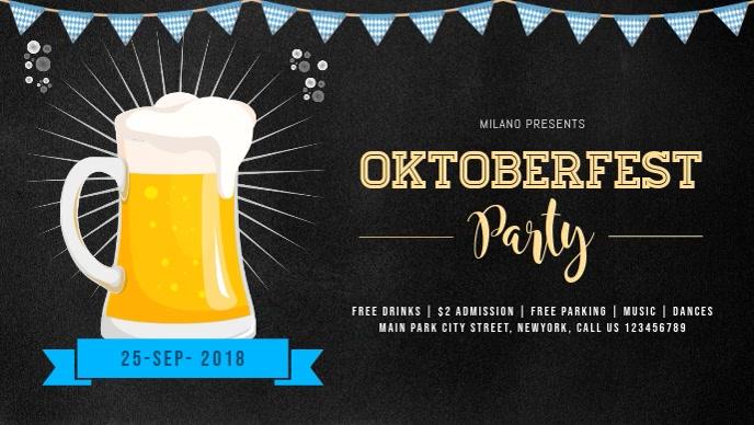 Oktoberfest Celebration Party Facebook Cover Video