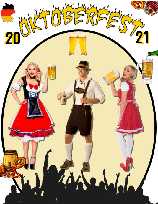 Oktoberfest Flyer (US Letter) template