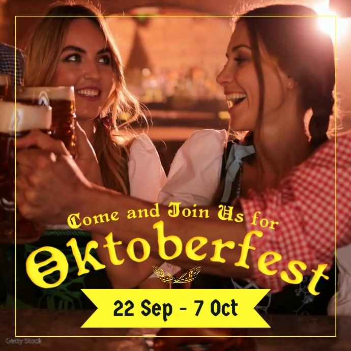 Oktoberfest สี่เหลี่ยมจัตุรัส (1:1) template