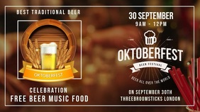 Oktoberfest Digital Display Horizontal Video template