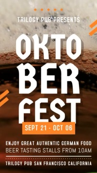 Oktoberfest Digital Display Video Invite