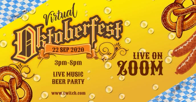 Oktoberfest event Couverture d'événement Facebook template