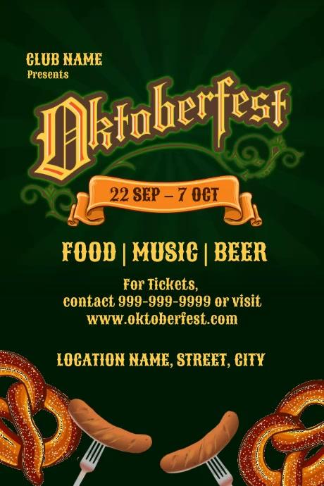 Oktoberfest event โปสเตอร์ template