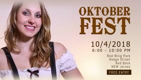 Oktoberfest Event Facebook Cover Video